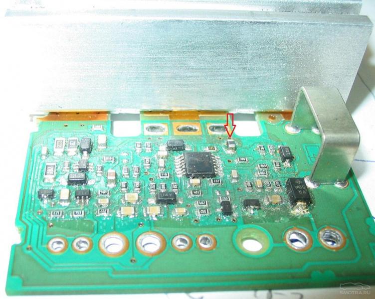 блок управления электровентилятором салона renault scenic