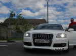 First White Matte Audi A8