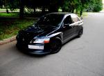 Evo IX black-on-black