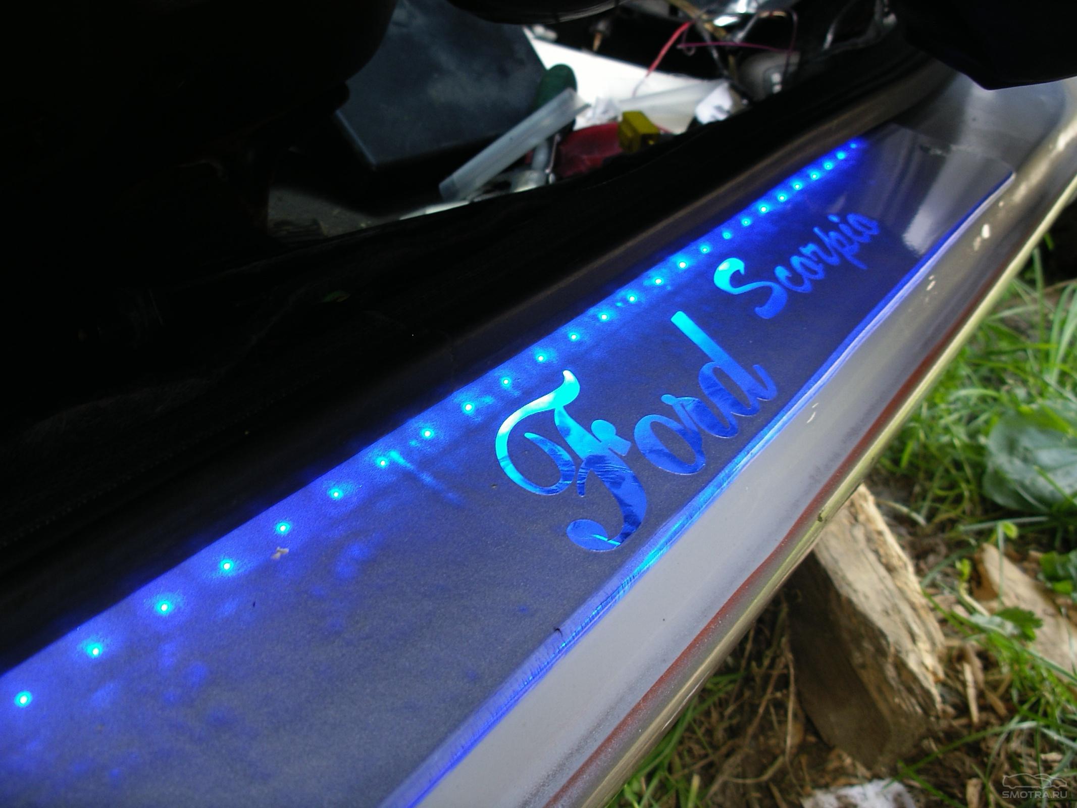 Накладка с подсветкой на пороги своими руками Схема-авто 23