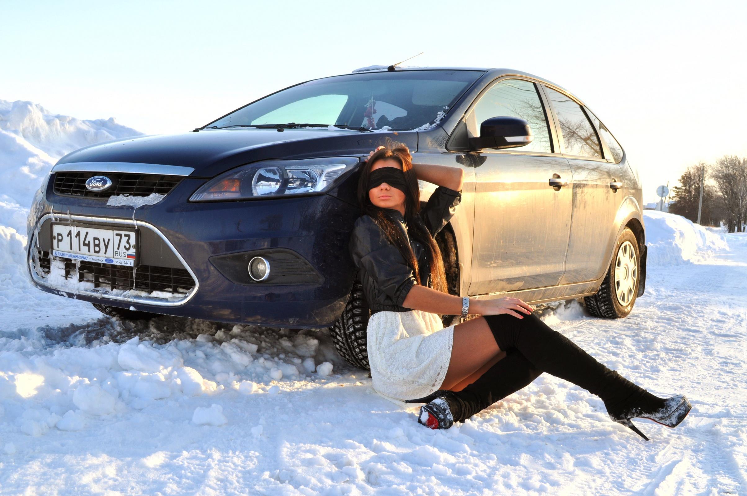 Русские женщины в машине 5 фотография
