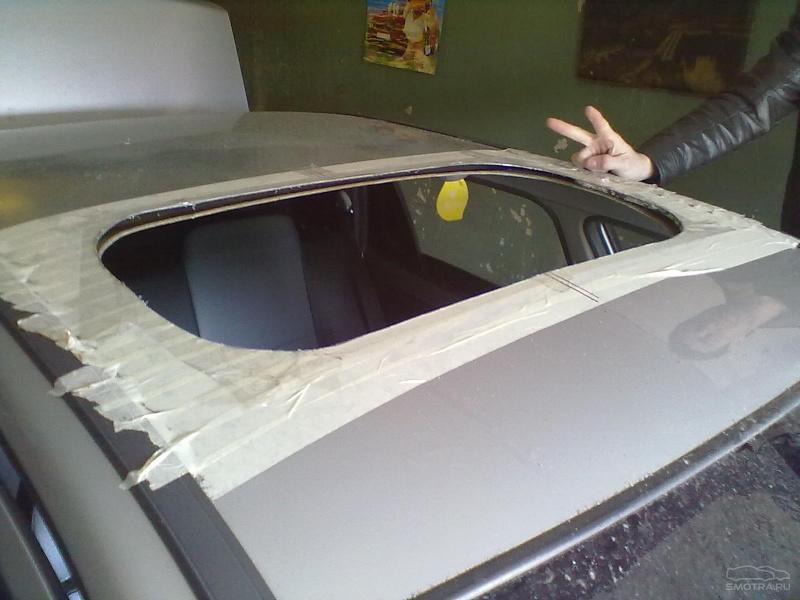 Как сделать люк на крышу автомобиля своими руками 97