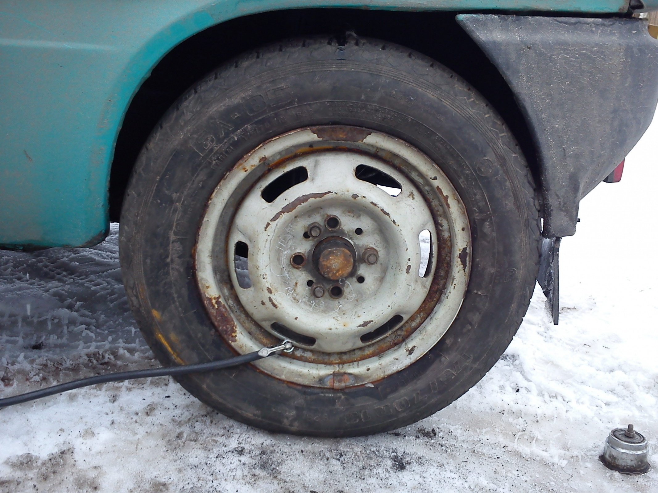 Ставим ОКУ на 13-е колеса бортжурнал Лада Ока Сиреневый перламутр 1998